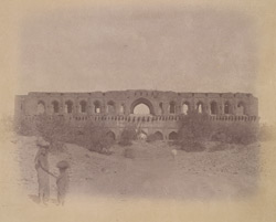 Ruined caravanserai at Shahpur, Bijapur.